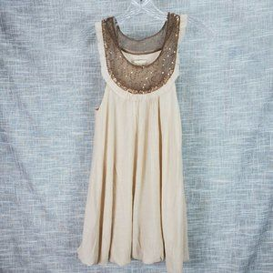 Forever 21 Gauze Bubble Dress w Sequins Small